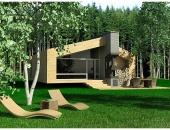 Сглобяема къща, проект 37: площ - 120 кв. м; 3 стаи; 2 спални. Цена: 30 000 евро