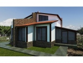 Сглобяема къща, проект 45: площ - 154 кв. м; 4 стаи; 3 спални. Цена: 38 500 евро