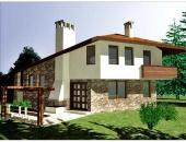 Сглобяема къща, проект 43: площ - 148 кв. м; 3 стаи; 2 спални. Цена: 37 000 евро
