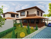 Сглобяема къща, проект 39: площ - 127 кв. м; 4 стаи; 3 спални. Цена: 31 750 евро