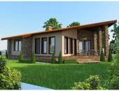Сглобяема къща, проект 53: площ - 105 кв. м; 3 стаи; 2 спални. Цена: 26 250 евро