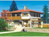Сглобяема къща, проект 50: площ - 169 кв. м; 4 стаи; 3 спални. Цена: 42 250 евро