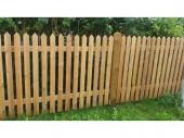 Ограда от импрегнирана дървесина