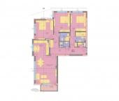 Апартамент 13 - ниво 4 - площ 155.84 м2