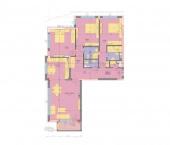 Апартамент 19-3A - ниво 6 - площ 155,84 м2