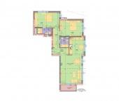 Апартамент 8 - ниво 3 - площ 127.73 м2