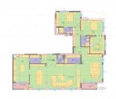 Апартамент 17-3B - ниво 6 - площ 257,68 м2