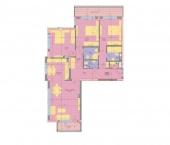 Апартамент 3-2A - ниво 1 - площ 155,63 м2